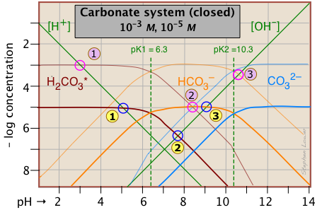 how to find the concentration using ph for sodium carbonate